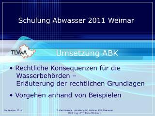 Schulung Abwasser 2011 Weimar