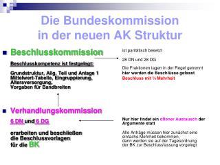 Die Bundeskommission in der neuen AK Struktur