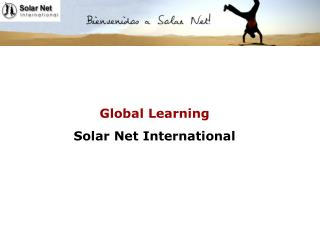 Global Learning Solar Net International