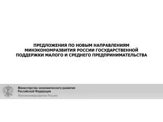 Программа Минэкономразвития России поддержки малого и среднего  предпринимательства