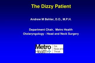 The Dizzy Patient