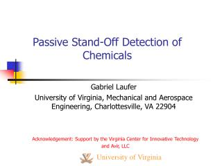 Passive Stand-Off Detection of Chemicals
