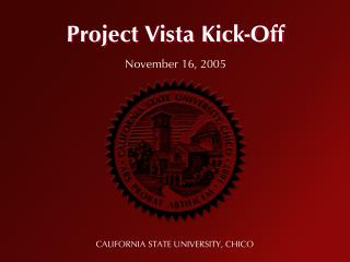 Project Vista Kick-Off