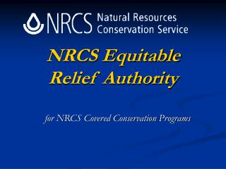 NRCS Equitable Relief Authority
