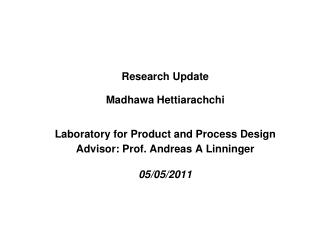 Research Update IT Paper 1 –Revisions