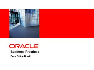 Business Practices Back Office Brazil