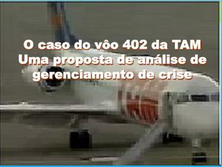 O caso do vôo 402 da TAM Uma proposta de análise de gerenciamento de crise