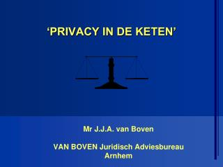 'PRIVACY IN DE KETEN'