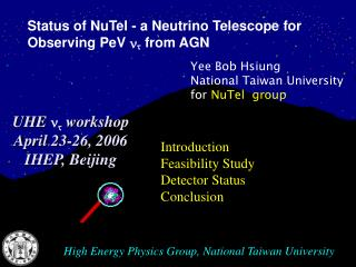 High Energy Physics Group, National Taiwan University