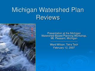 Michigan Watershed Plan Reviews