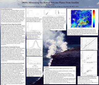 (#694) Monitoring the Hawaii Volcano Plume From Satellite By John Porter