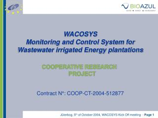 WACOSYS Monitoring and Control System for Wastewater irrigated Energy plantations