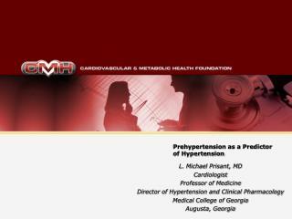 Prehypertension as a Predictor of Hypertension