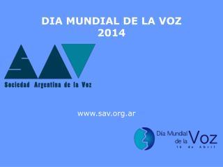 DIA MUNDIAL DE LA VOZ 2014