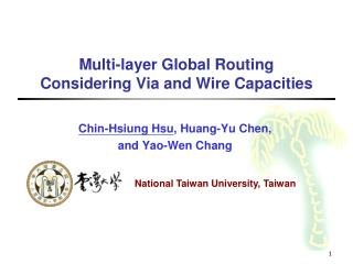 Multi-layer Global Routing  Considering Via and Wire Capacities