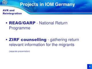 Projects in IOM Germany