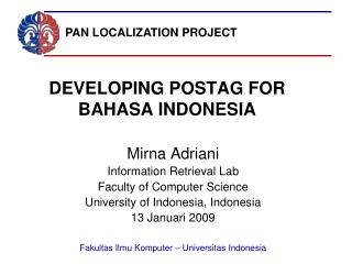DEVELOPING POSTAG FOR BAHASA INDONESIA