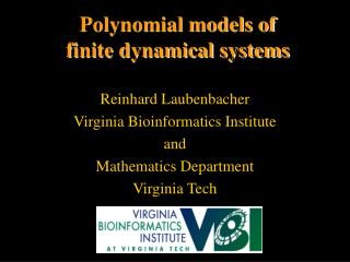 Polynomial models of  finite dynamical systems