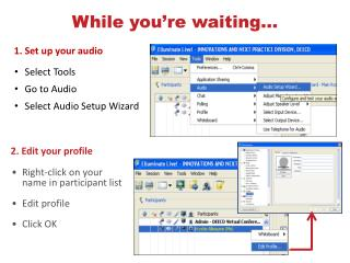 1. Set up your audio