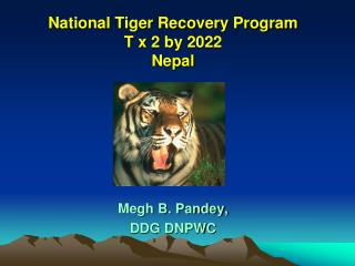 National Tiger Recovery Program  T x 2 by 2022 Nepal