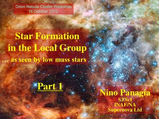 Star Formation in the Local Group