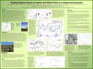 Relating Optical Indices to Carbon and Water Fluxes in a Chaparral Ecosystem