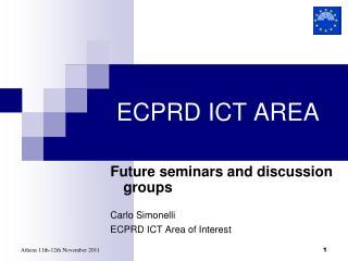 ECPRD ICT AREA