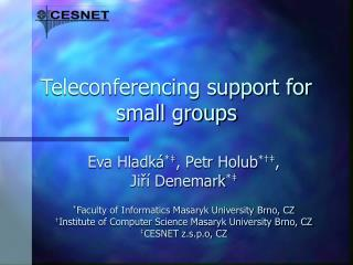 Teleconferencing support for small groups