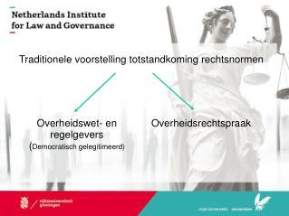 Traditionele voorstelling totstandkoming rechtsnormen
