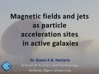 Magnetic fields and jets  as particle  acceleration sites  in active galaxies