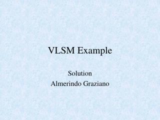 VLSM Example