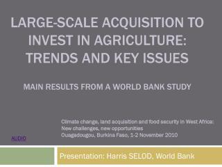 Presentation: Harris SELOD, World Bank