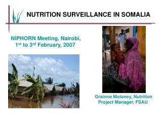 NUTRITION SURVEILLANCE IN SOMALIA