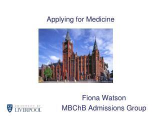 Applying for Medicine
