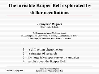 The invisible Kuiper Belt explorated by stellar occultations