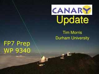 Update Tim Morris Durham University