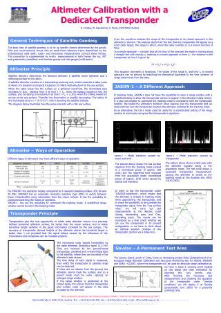 Altimeter Calibration with a Dedicated Transponder