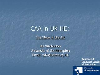CAA in UK HE:
