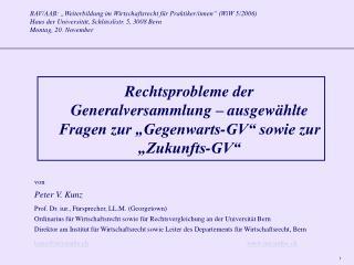 """BAV/AAB: """"Weiterbildung im Wirtschaftsrecht für Praktiker/innen"""" (WiW 5/2006)"""