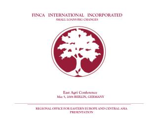 FINCA   INTERNATIONAL   INCORPORATED SMALL LOANS BIG CHANGES
