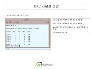 CPU  사용률 점검