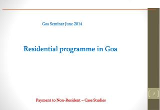 Residential programme in Goa