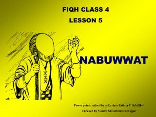 FIQH CLASS 4 LE SSON 5
