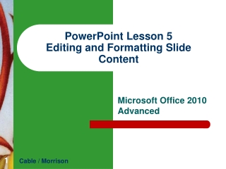 INTRODUCTORY MICROSOFT WORD Lesson 5   Formatting Paragraphs and Documents