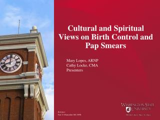 Cultural and Spiritual Views on Birth Control and Pap Smears