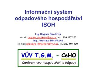 Informační systém odpadového hospodářství ISOH