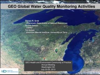 GEO Global Water Quality Monitoring Activities