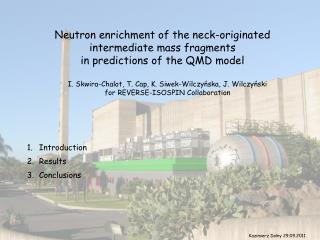 Neutron enrichment of the neck-originated  intermediate mass fragments