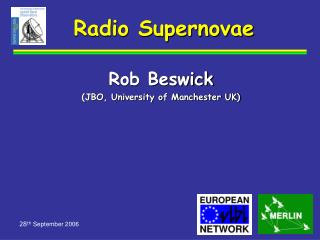 Radio Supernovae