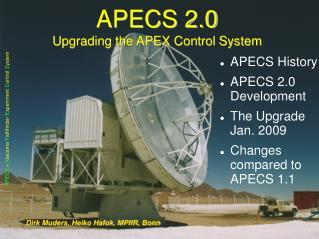 APECS 2.0 Upgrading the APEX Control System